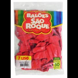 Balão São Roque Tam 7 - Cor Rosa Pink- Pacote Com 50 Uni
