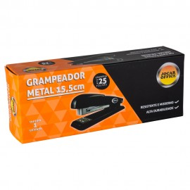 Grampeador Metal 15,5cm Grampeia até 25fls Leo leo