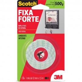 Fita Adesiva Scoth - Fixa Forte Dupla Face 12MMX1,5MT Espuma