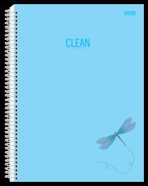 Caderno 10 Mat. Clean Cor Pastel Azul - São Domingos