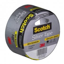Fita Adesiva Cinza - Silver Tape 45MM X5M Scoth 3M