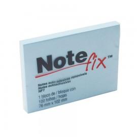Bloco Adesivo Notefix 3M Azul - 76mm x 102 mm - Pct com 1 unidade de 100 folhas