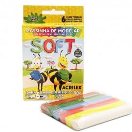 Massa para Modelar Soft 90grs Acrilex C/6UN