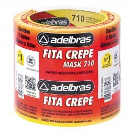 Fita Adesiva Crepe Bege - 48MM X 50MTS PCT C/2 UNIDADES Adelbrás