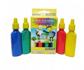 Cola Colorida com 4 cores Acrilex