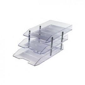 Caixa Correspondência Tripla Fixa Cristal - Novacril
