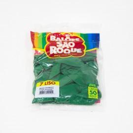 Balão São Roque Tam 7 - Cor Verde Bandeira - Pacote Com 50 Uni