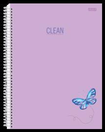 Caderno 10 Mat. Clean Cor Pastel Lilás - São Domingos