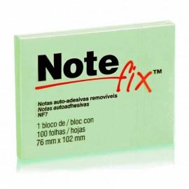 Bloco adesivo 3M Notefix Verde - 76mm x 102mm - Pct com 1 unidade de 100 folhas