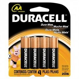 Pilha AA- Duracell - Alcalinas - Cartela - Com - 4 - Unidade