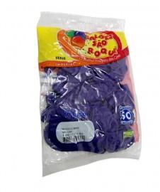 Balão São Roque Tam 7 - Cor Roxo - Pacote Com 50 Uni