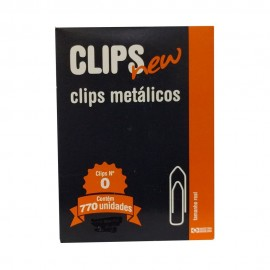 Clips Metálico Nº 0 - 770 unidades - Clips New