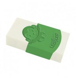 Borracha Plástica Branca com capa Verde - Leo&Leo
