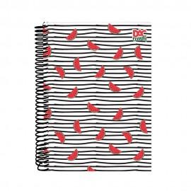 Caderno Dac - Universitário 1 Matéria Capa Dura Trendy Melância Ref: 2369 1UN