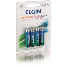Pilha AAA - Elgin - Alcalinas - Cartela  - Com 4 -  Unidades