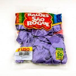 Balão São Roque Tam 7 - Cor Lilás - Pacote Com 50 Uni