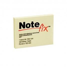 Bloco Adesivo Notefix 3M Amarelo - 76mm x 102mm - Pct com 1 unidade de 100 folhas