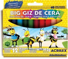 Big Giz de Cera com 12 unidades Acrilex