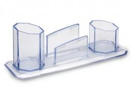 Porta Caneta/Lembrete/Clips Cristal - Waleu
