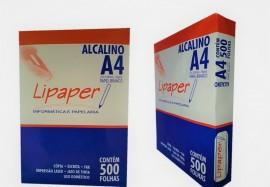 Papel A4 Lipaper 75g C/ 500 Fls Caixa Com 5 Pacotes